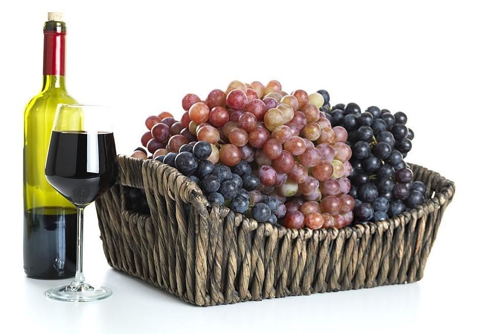 Winogrona w koszu