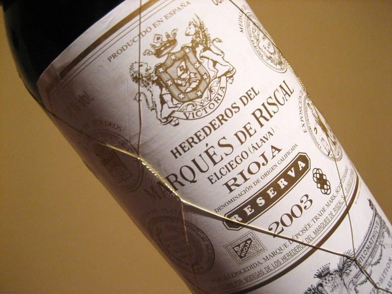 Wino w złocistej siateczce – Marqués de Riscal