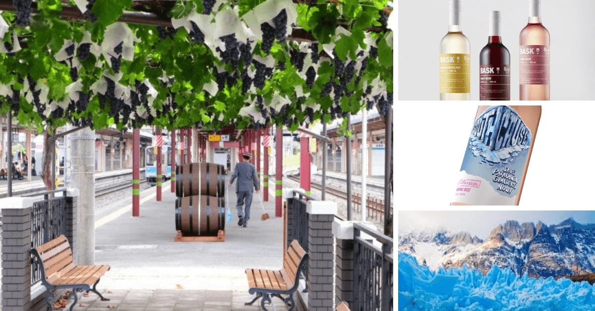 Trzy kraje, trzy ciekawostki – wino ze stacji kolejowej, wino bez cukru, wino na ratunek lodowcom Patagonii