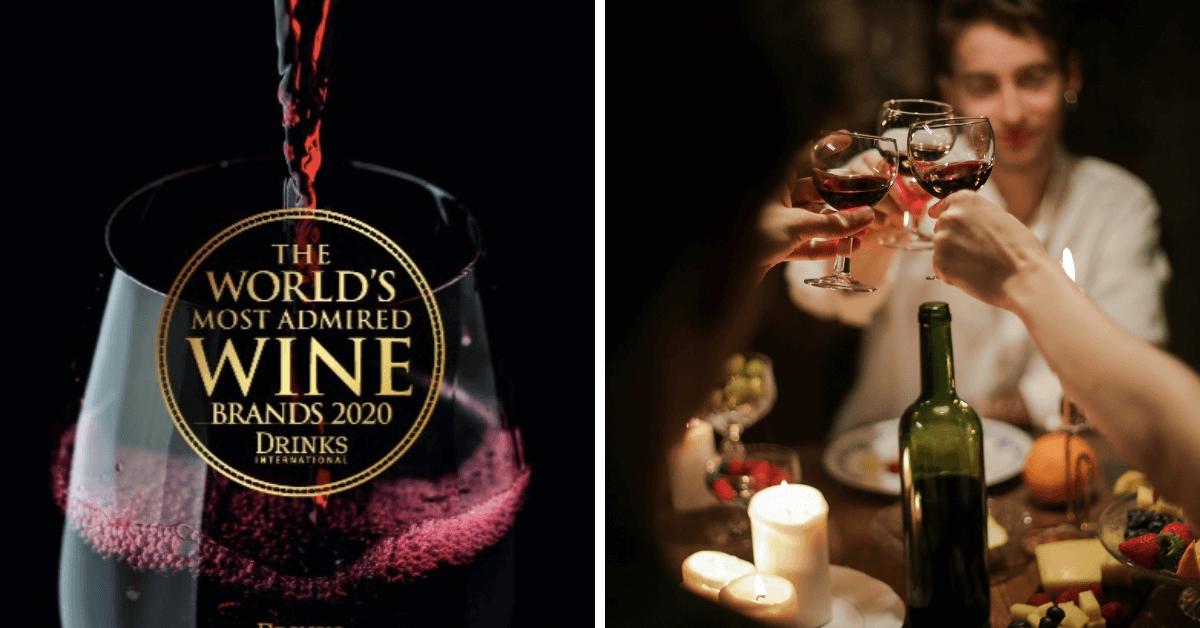 Najbardziej cenione marki wina na świecie 2020