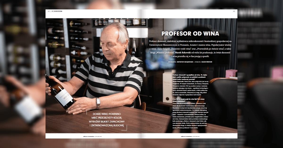 """""""Profesor od Wina"""" – wywiad w magazynie """"Sukces po poznańsku"""""""