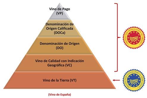 Klasy wina w Hiszpanii.