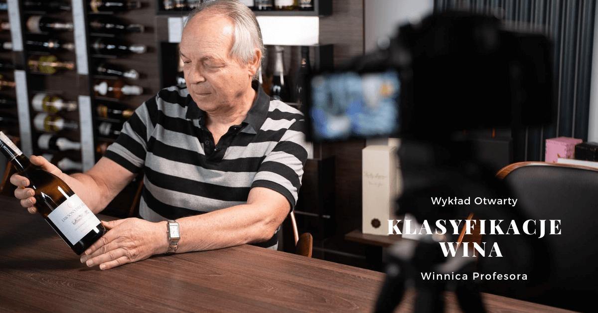 Klasyfikacje wina – wykład online