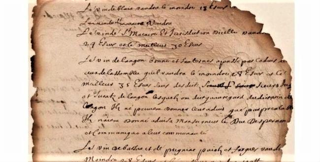 klasyfikacja wina z XVII wieku