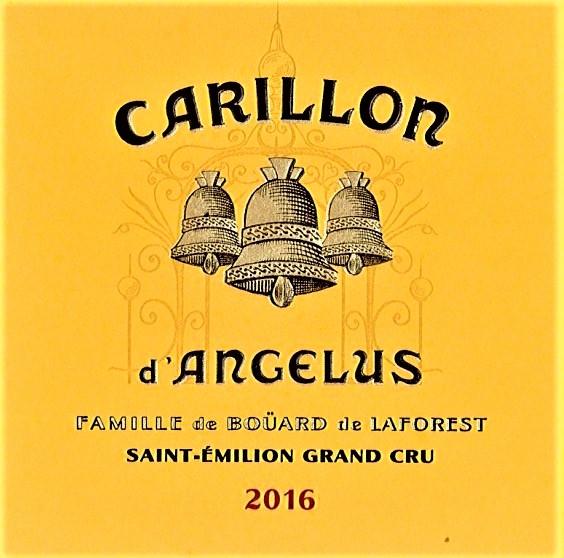 Drugie wina - Carillion d' Angelus z Château Angelus.