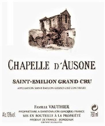 Drugie wina - Chapelle d' Ausone z Château Ausone.